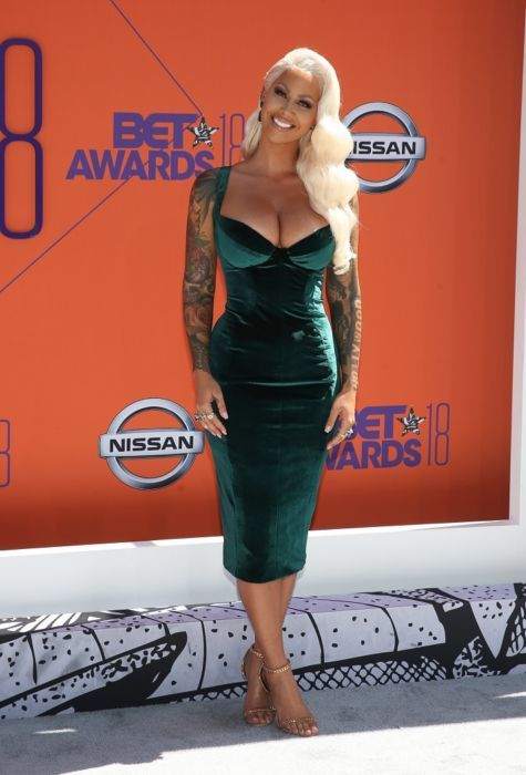 Amber-Rose-in bryan hearns and tom ford shoes